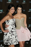 Lea Michele and Jenna Ushkowitz were all dolled up for a Fox afterparty in LA back in January 2010.