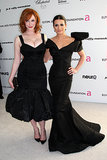 Lea Michele got glammed up with Christina Hendricks for Elton John's annual Oscars viewing party in LA in March 2010.