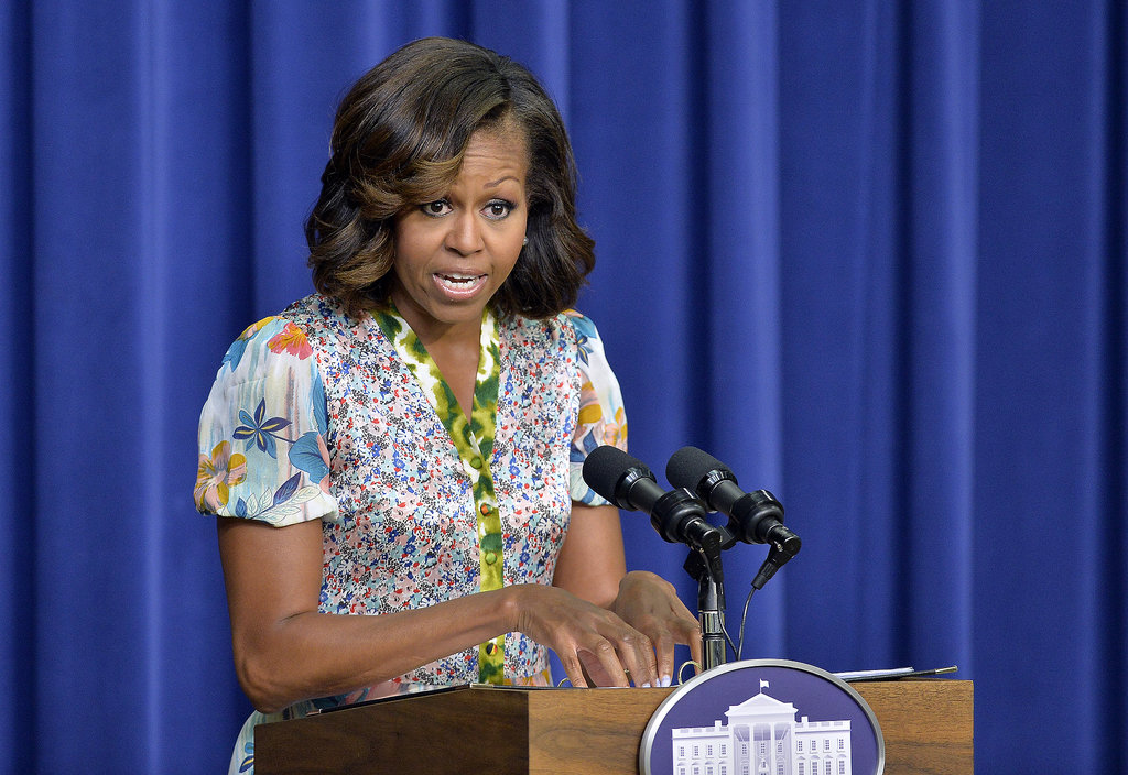 Michelle Obama made a speech in Washington DC on Tuesday.