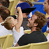 David Beckham and Harper at the LA Dodgers Game