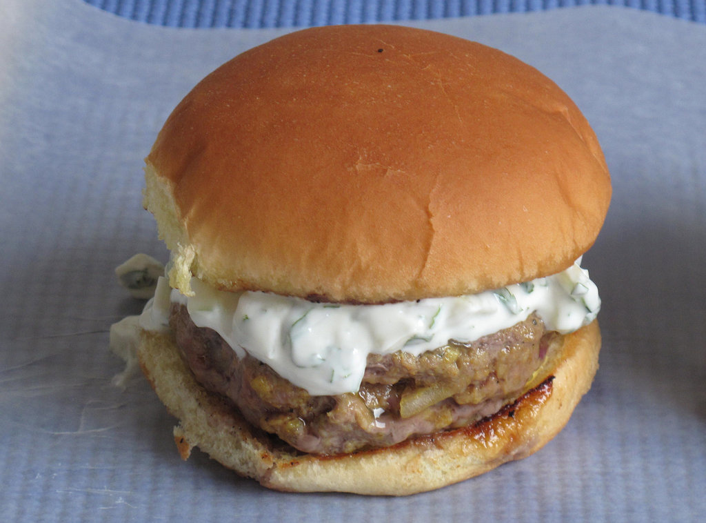Indian Spiced Burgers With Cucumber Yogurt
