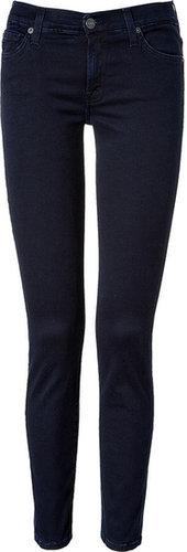 Seven for all Mankind Blue/Black Gummy Denim Super Skinny Gwenevere Jeans