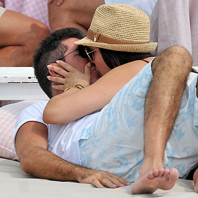 Simon Cowell Reunites With Pregnant Lauren Silverman