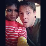 Kaling and Barinholtz paused for a cute picture. Source: Instagram user mindykaling