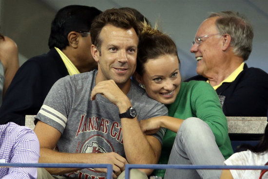 Jason Sudeikis and Olivia Wilde showed sweet PDA in the stands at the US Open in NYC.