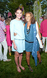 Hilary Rhoda linked up with Donna Karan at the Paddle and Party For Pink in Sag Harbor in August.