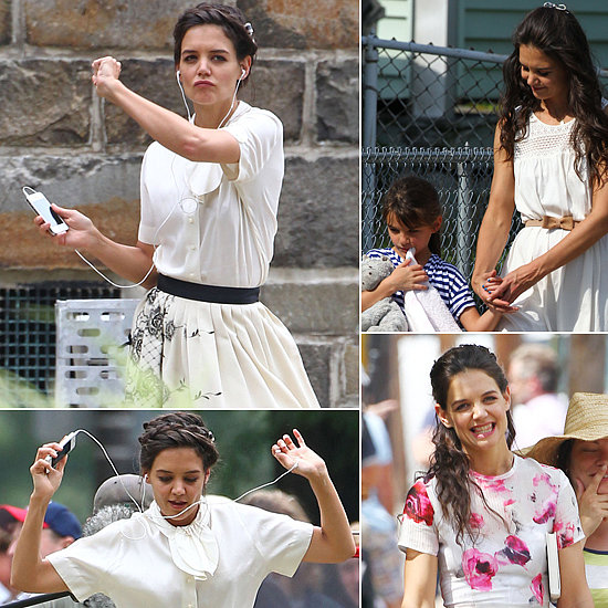 Katie Holmes Is a Dancing Machine on Set!