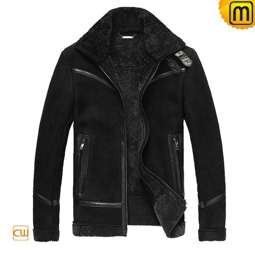 Sheepskin Lined Leather Fur Jacket CW819329