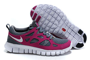 Nike Free Run 2 Tumbled Grey Vivid Grape White Womens Shoes