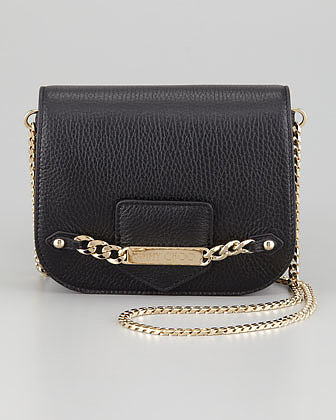 Jimmy Choo Shadow Metallic Crossbody Bag, Black