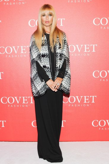 The evening's hostess, Rachel Zoe, launched Covet in a bold black and white pairing.