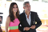George Clooney and Sandra Bullock were all smiles at the Venice Film Festival.