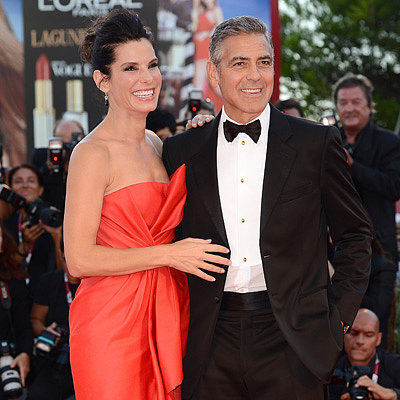 Sandra Bullock and George Clooney at Venice Film Festival