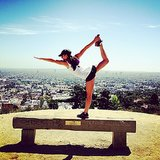 Lea Michele put her yoga moves on display during an afternoon hike in LA. Source: Instagram user msleamichele