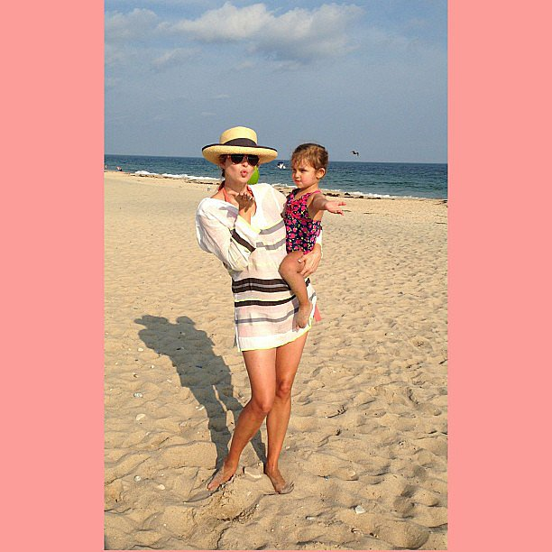 Ivanka Trump hit the beach with her little girl, Arabella Kushner. Source: Instagram user ivankatrump