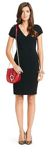 Norma V-neck Dress In Black