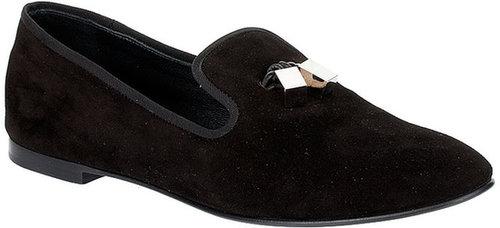 Giuseppe Zanotti Black suede loafer