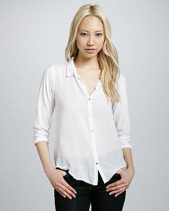 Velvet by Graham & Spencer Long-Sleeve Gauze Shirt