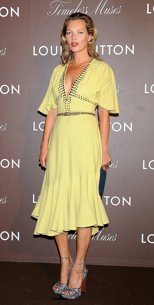 Kate Moss attended the Timeless Muses exhibition for Louis Vuitton in Tokyo.