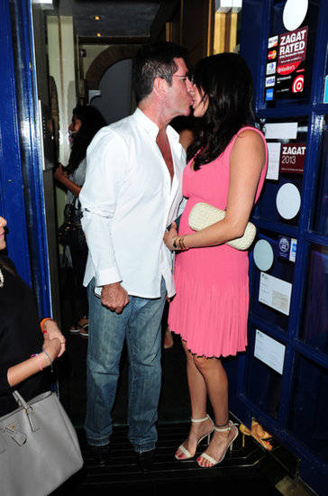 Simon Cowell Can't Stop, Won't Stop Kissing Lauren Silverman
