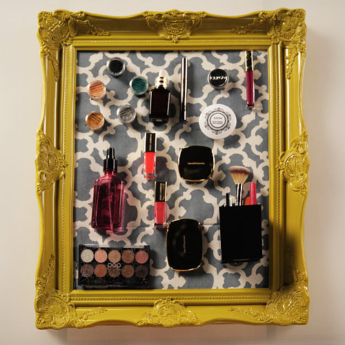 DIY Magnetic Makeup Board Organizer