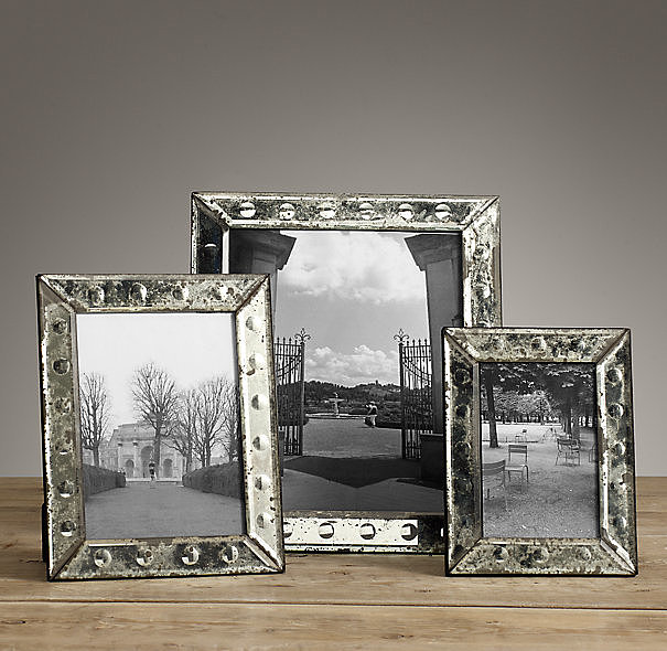 Add one of these aged frames ($39) to your vanity for an antique touch.