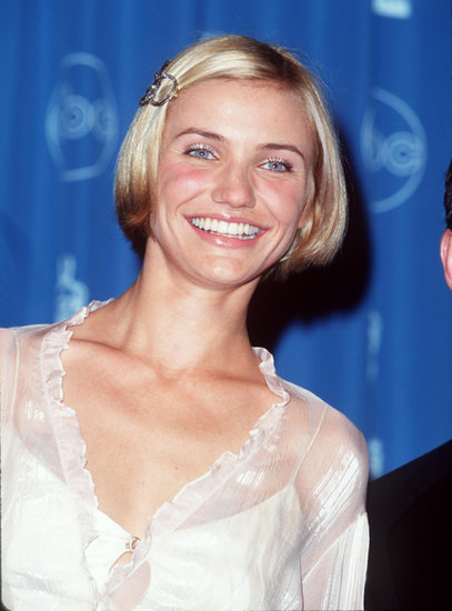 A radiant Cameron wore a simple bob clipped on the side at the 1998 Oscars. A spot of pink lip gloss topped off her sparkly style.