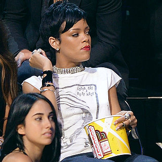 Rihanna Spills Popcorn at the VMAs