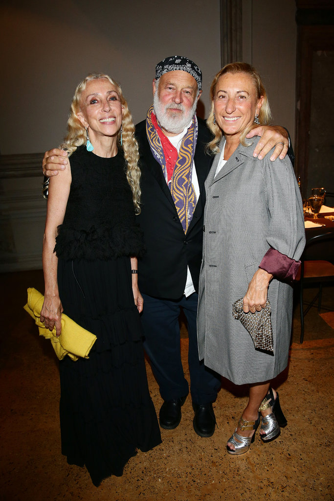 Miuccia Prada hosted a Miu Miu dinner at the Venice Film Festival, where fashionable guests like Franca Sozzani and Bruce Weber joined the table.