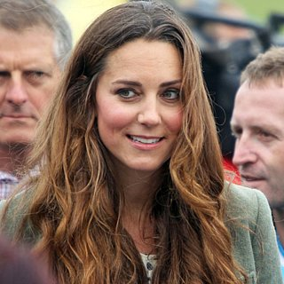 Kate Middleton Curly Hair Pictures at Post-Baby Appearance