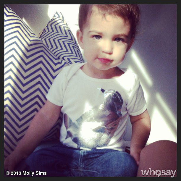 Proud mama Molly Sims shared this cute photo of baby Brooks.  Source: Instagram user mollybsims