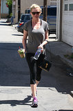 Kirsten Dunst powered up with a green smoothie before heading to her regular Tracy Anderson Method class.