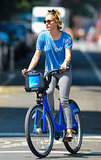Chloë Sevigny took advantage of New York's bike-sharing program, and hit the streets of Soho on a Citi Bike.