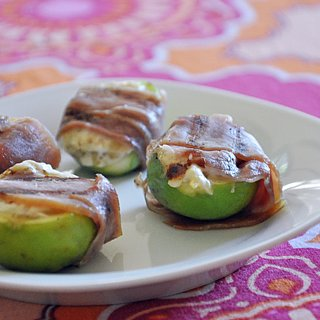 Simple Goat Cheese Stuffed Figs Wrapped in Prosciutto