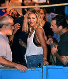 Beyoncé Knowles smiled during her fun day in Brooklyn.