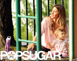 Gisele Bündchen and her daughter, Vivian, soaked up some sun with friends while at the park.