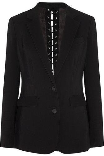 Rag & bone Lillian eyelet-back piqué blazer