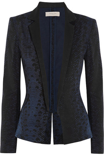 Preen Line Dollis printed stretch-cotton drill blazer