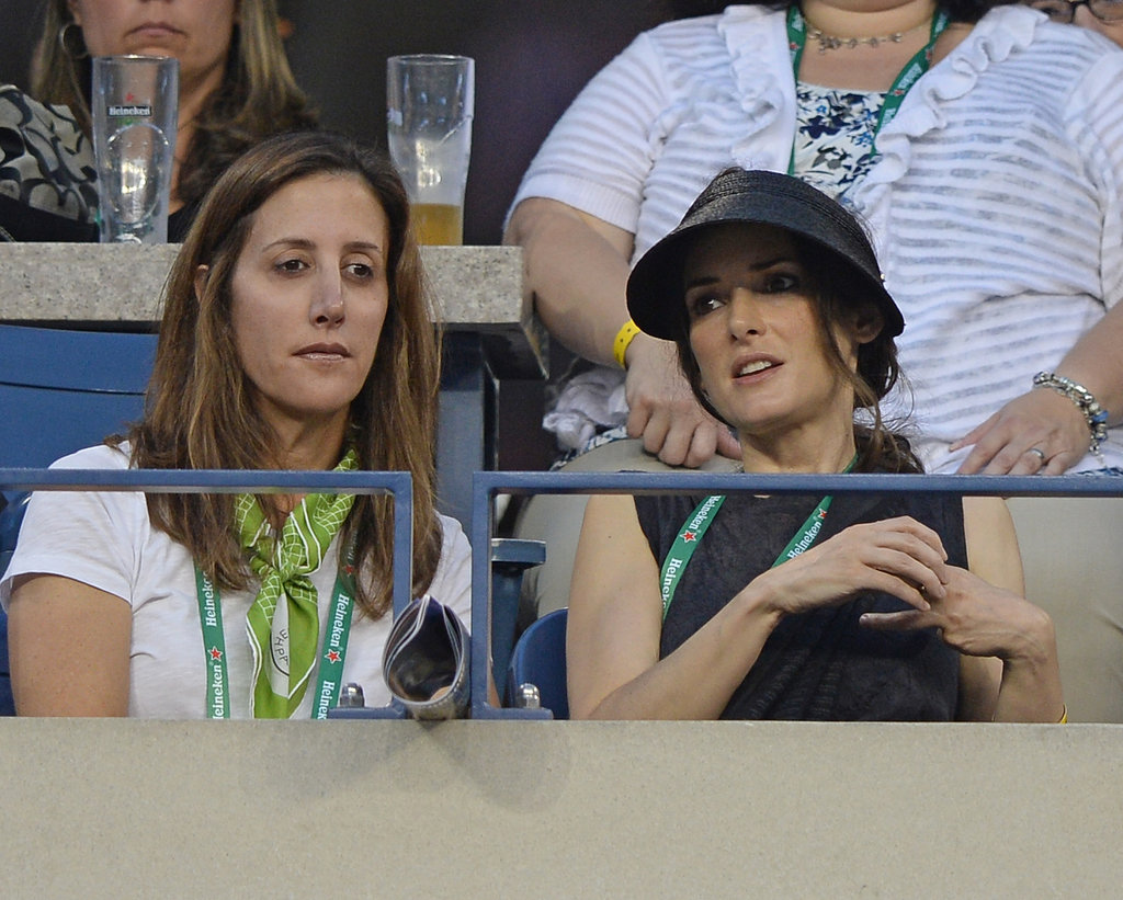 Winona Ryder watched the US Open in NYC.