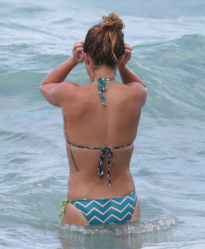 Hayden Panettiere spent some time in the ocean during her trip to Florida.
