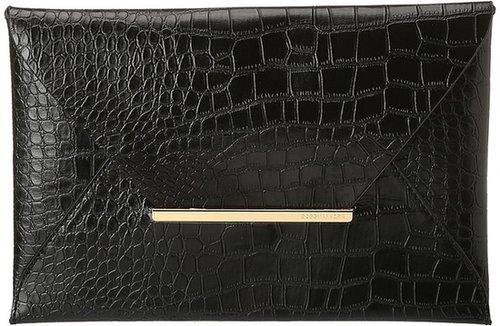 BCBGMAXAZRIA - Croco Envelope (Black) - Bags and Luggage