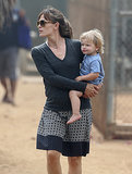 Jennifer Garner carried Samuel Affleck on Labor Day.