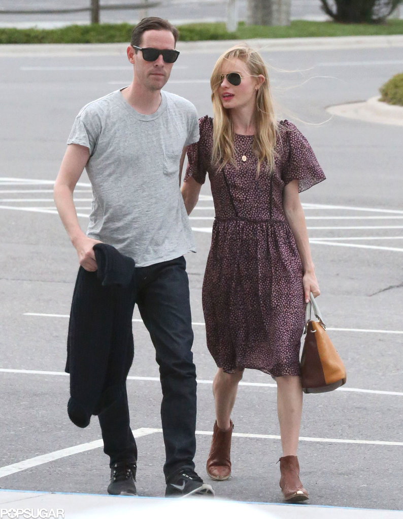 Kate Bosworth cuddled close to her new husband, Michael Polish.