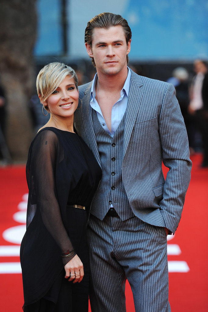 Chris Hemsworth attended the Rush premiere in London with Elsa Pataky.