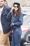 Kristen Stewart rocked flip-up specs while spending time in Berlin for her latest film.