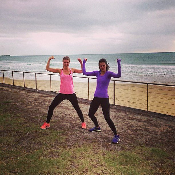 Jess Ainscough said she almost threw up a little after her workout with Melissa Ambrosini — go Jess! Source: Instagram user jessainscough