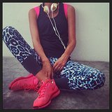 We're just loving Lindy Klim's Stella McCartney and Nike workout gear. Source: Instagram user lindyklim