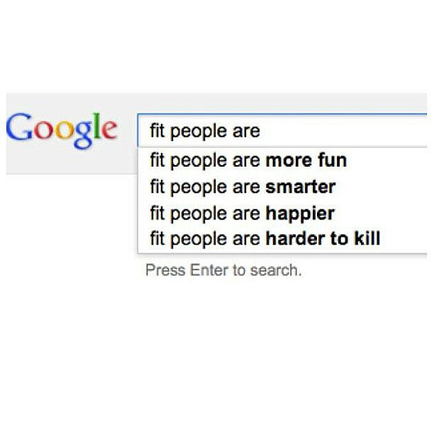 Well isn't this just the best thing you've seen all day? This is actually Google's search prompts. Source: Instagram user motivationalwall