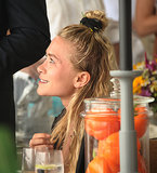 Mary-Kate Olsen took in the Hampton Classic Horse Show.