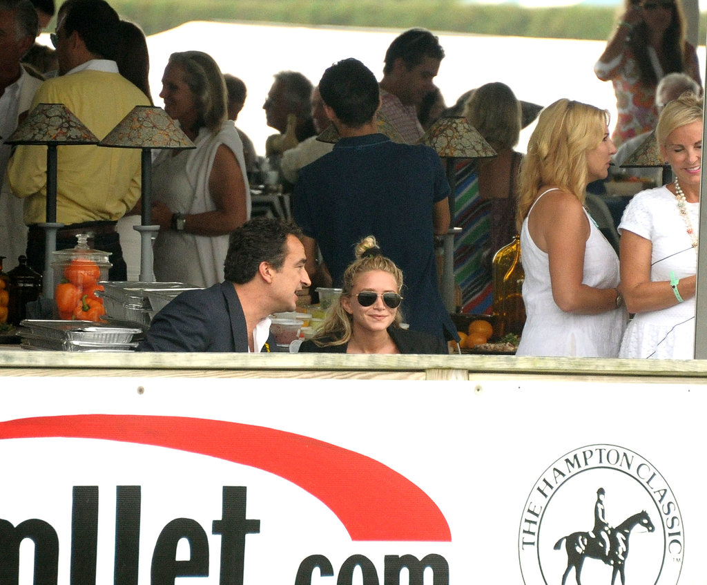 Mary-Kate Olsen was joined by her boyfriend, Olivier Sarkozy, in Bridgehampton in August.